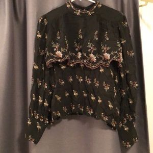 *New With Tags* Zara embroidered blouse
